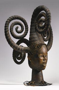 """Ejagham Headcrest, Cross River Region, Nigeria - """"A feature of the art of the… Ghana, Afrique Art, Art Premier, Art Africain, Art Sculpture, Soul Art, African Masks, Indigenous Art, African Culture"""