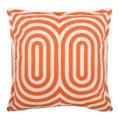 Thomaspaul's 100% cotton canvas pillow featuring a signature Thomaspaul designs in modern shapes and bold hues is the perfect way to kick up any room design. Features a reversible print and hand silk-screened design.