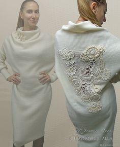 """Купить Платье """"Зимний сон"""" Модель №797 - Вязание крючком, Машинное вязание, вязаное платье"""