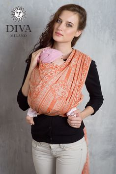 1d62251be62 Diva Milano Woven Wrap Flora with Linen is made from cotton linen blend.  Enjoy