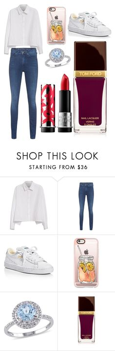 """""""Sans titre #1964"""" by merveille67120 ❤ liked on Polyvore featuring Y's by Yohji Yamamoto, Calvin Klein Jeans, Puma, Casetify, Modern Bride, Tom Ford and MAKE UP FOR EVER"""