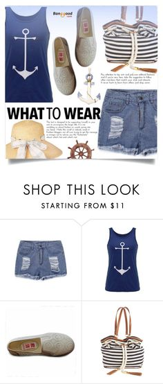 """Banggood  9"" by ladybug-100 ❤ liked on Polyvore featuring Kim Rogers, Barbour, Summer, anchor and BangGood"