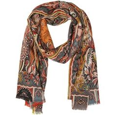 ETRO Dhely Printed Wool & Silk Scarf