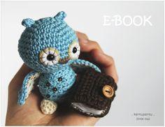 HÄKELANLEITUNG+/+E-BOOK:+EULE+/+mit+dem+BUCH+von+kertupertu+heARTmade+auf+DaWanda.com