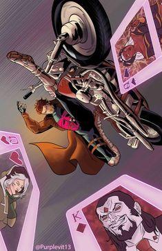 """purplevit: """"My Gambit art """" Gambit Marvel, Gambit X Men, Rogue Gambit, Marvel X, Xmen, Gambit Wallpaper, Marvel Phone Wallpaper, Dc Comics Superheroes, Marvel Comics Art"""