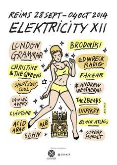 Du 28 septembre au 4 octobre 2014, la ville de Reims deviendra la capitale de la musique électro pour un moment ultra électronisant !