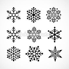 Christmas background with snowflakes icons — Stock Illustration #7125642
