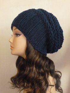 Hand Knit Women's Hat Slouchy Knit Hat CHOOSE by BoPeepsBonnets, $38.00