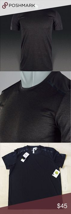 Adidas Climachill Tee- Chill Black Adidas Climachill Tee- Chill Black:: This lightweight, breathable running t-shirt is made with Climachill fabric to help keep you cool with a mesh-like fabric and aluminum silver dots (as pictured), that conduct heat away from your body. Crewneck, odour-resistant fabric, slim fit, and made from 100% Polyester doubleknit. Adidas Shirts Tees - Short Sleeve
