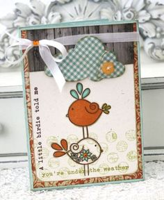 Tweet Talk Get Well Card by Melissa Phillips for Papertrey Ink (April 2012)