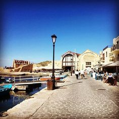 Eternally in love with the Old port of Chania ! The sun the sea and a couple of 16th century Venetian dockyards !