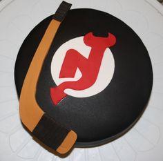 NJ Devils Cake — Hockey