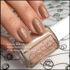 Essie Cocoa Karma - Essie Resort 2015. Click thru for all the swatches!