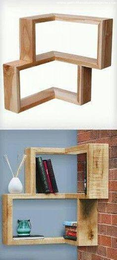 Simple pallet wood shelf idea.