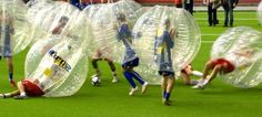 hahaha! Full Contact Bubble Soccer! I'd love to do this! but not be the one to get knocked down... haha