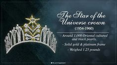 Miss Universe Crown, Gold Platinum, Solid Gold, Culture, Pearls, World, Beads, Pearl, The World