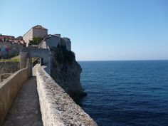 Continuing the walk around Dubrovnik's wall, you do some stair climbing on this trip.