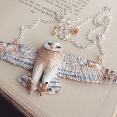 The barn owl necklace is finished and has just been added to the shop! It is $62 + shipping. I'm leaving out of town on Friday and returning November 2nd, so anything purchased from my shop now to the 2nd will start being processed when I return. {www.meadowandfawn.com}