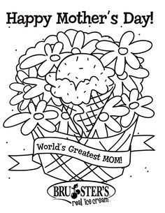 mothers dau coloring pages | Happy Mother S Day Coloring Pages
