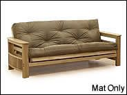 Three Seat Deluxe Replacement Futon Mattresses - Mattress Only