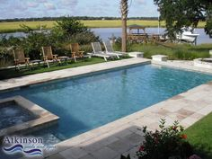 Rectangular Inground Pool Designs rectangular pool with hot tub | gallery for rectangle inground