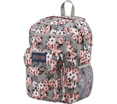 Protect what's important to you with the JanSport Digital Student. With a removeable 15 in laptop sleeve, side water bottle pocket, and organizational storage throughout, this backpack is made to go everywhere. Jansport Backpack, Laptop Backpack, Backpack Bags, Shoes For School, School Bags, School Stuff, School Survival Kits, Grey And Coral, Floral Backpack