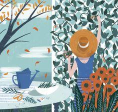 Illustration from an article on planting an autumn garden, The Washington Post | Sam Kalda