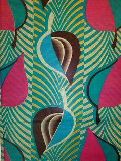 Super Wooden Wax Print - Turquoise - 6 yard