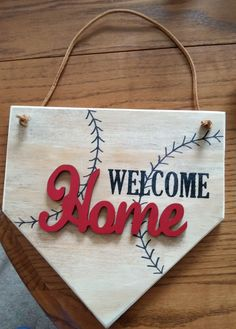 Welcome door sign for the baseball lovers!