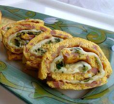 girelle di frittata con zucchine e scamorza, ricetta facile e veloce per secondo piatto, antipasto o finger food