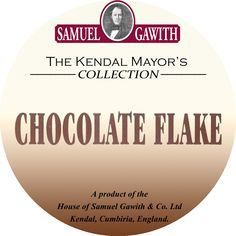 label pipe tobacco Samuel Gawith Chocolate Flake
