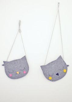 Kids bag Purse for girl Gift for girl Cat Bag Mini Grey Gifts For Girls, Girl Gifts, Kids Purse, Animal Bag, Cat Bag, Girls Bags, Handmade Bags, Felt Crafts, Diy For Kids