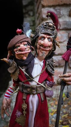 Mr.Rufus and Mr.Leftus- Keepers of the Atlantian gates • Dolls Collection by Moisés Espino on Kolektado