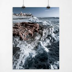 Constant Consistency - Splashing Waves on the Beach La Jolla California Fine Art Seascape Photography Print. Photograph: Color Digital Infrared Print Type: Acid Free Gallery / Museum Archival Quality Finish Type: Luster / Semi-Gloss Sizes Available (inches): 8x10, 9x12, 11x14, 13x17, 15x20, 16.5x22 .