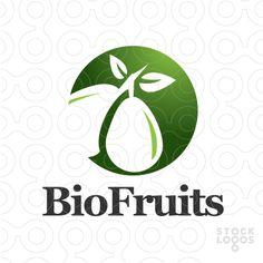 Exclusive Customizable Logo For Sale: Bio Fruits | StockLogos.com
