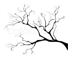 Silhouette of the branch tree. A black silhouette is thin branch of tree on a wh , Stencil Art, Stencil Designs, Stencils, Tree Silhouette, Black Silhouette, Art Textile, Trendy Tree, Tree Crafts, Tree Art