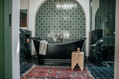 Claire Thomas: Elegant Emerald Green Bathroom | Fireclay Tile