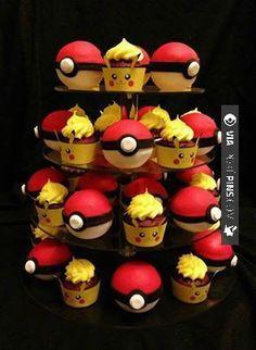Awesome - Pokémon Cupcakes. I gotta make these some day XD   CHECK OUT MORE pikachu PHOTOS AT POKEPINS.COM   #pokemon #gottacatchemall #pikachu #charmander #squirtle #bulbasaur #ferokie #haunter #garydos #mew #mewtwo #shiny #teamrocket #teammagma #ash #misty #brock