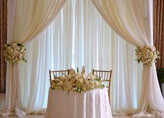 Wedding Sweetheart table backdrop,