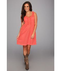 Stetson 8620 Coral Eyelet Sleeveless Dress Red - Zappos.com Free Shipping BOTH Ways