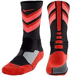 Nike Hyper Elite Chase Basketball Crew Socks Black/Lava (S Dri-FIT fabric helps keep your feet dry and comfortable Right/Left Specific for better fit Basketball Shorts Girls, Nike Basketball Shoes, Nike Elite Socks, Nike Socks, Retro Jordans 11, Nike Air Jordans, Zoom Iphone, Iphone 5c, Shopping