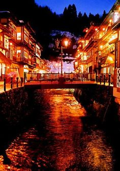 Town of Taisho Romance, Winter in Ginzan Onsen (Ginzan Onsen) – Travel World Beautiful World, Beautiful Places, Monuments, Japan Landscape, Graphisches Design, Yamagata, Japanese Architecture, Great View, Japan Travel