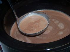 Christmas Eve Creamy Crockpot Hot Chocolate - 1.5 cups heavy cream, 1 can of sweetened condensed milk (14oz), 2 cups milk chocolate chips,  6 cups of milk, 1 tsp vanilla extract.  With all of that it would have to be good!