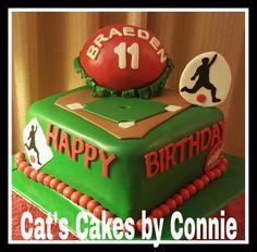 Kickball Themed Cakes Cat's Cakes by Connie