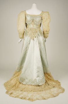 Evening dress House of Worth (French, 1858–1956) Date: 1890s Culture: French Medium: silk
