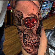 70 Diamond Tattoo Designs For Men - Precious Stone Ink Hand Tattoos, Sugar Skull Tattoos, Sleeve Tattoos, Tattoo Arm, Tatoos, Diamond Tattoo Designs, Diamond Tattoos, Tattoo Designs Men, Cool Tattoos For Guys