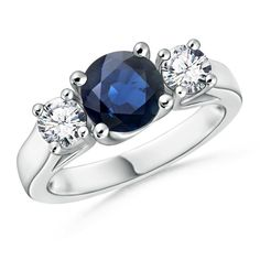 Angara Diamond Halo Claw Sapphire Milgrain Ring in 14k Yellow Gold PUhw5yWE