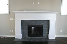 painted slate fireplace - Google Search