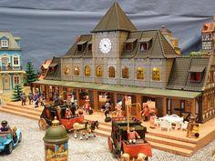 Estación en un diorama