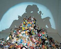 Artists are usually ahead of the curve when it comes to being green. The artists featured here exclusively use recycled and/or trash to make pieces of contem